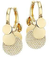 Nina Gilin Women's 18K Yellow Gold & Diamond Charm Hoop Earrings