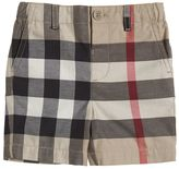 Burberry Check Cotton Gabardine Shorts