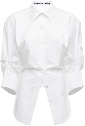 Alexander Wang Ruched Cotton Poplin Shirt