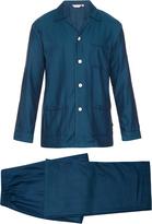Derek Rose Kelburn herringbone pyjama set