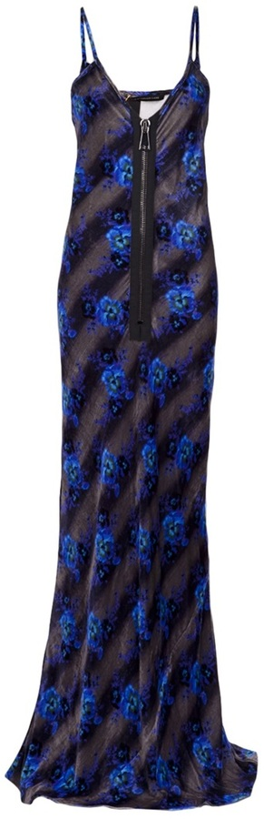 Christopher Kane zip front maxi dress