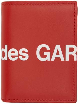 Comme des Garçons Wallets Red Huge Logo Card Holder