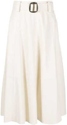 Tommy Hilfiger Flared Style Belted Skirt