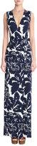 Diane von Furstenberg Printed Silk Wrap Maxi-Dress