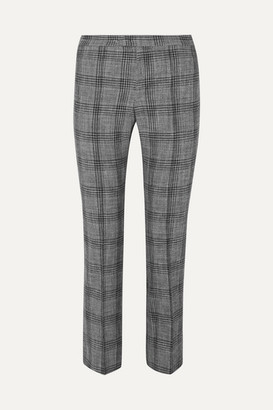 Isabel Marant Derys Checked Cotton-blend Straight-leg Pants - Dark gray