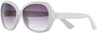 Apt. 9 Women's Plastic Large Faceted Soft Square Sunglasses