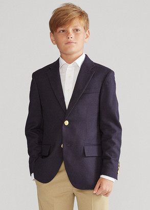 Ralph Lauren Wool Brass-Button Sport Coat