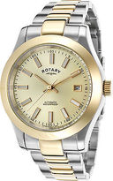 Rotary GB00151-03 Men's Automatic Two-Tone SS Gold-Tone Dial and Bezel SS