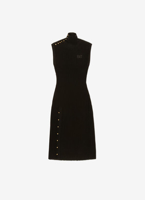 Bally High-Collar Knit Dress