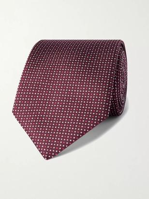 HUGO BOSS 7.5cm Pin-Dot Silk-Jacquard Tie - Men - Brown