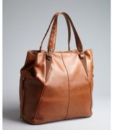 Kooba saddle brown leather 'Orchard' whipstitched large tote