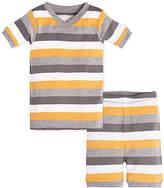 Burt's Bees Baby Tri Color Stripe Organic Cotton Short Sleeve Pajamas