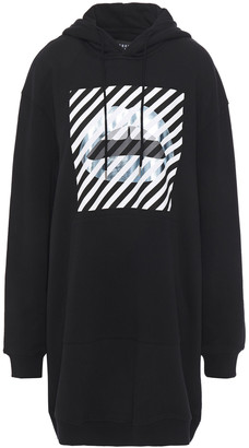 Markus Lupfer Printed French Cotton-terry Hooded Mini Dress