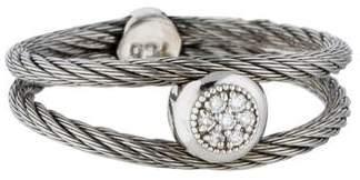 Charriol 18K Pavé Diamond Station Cable Ring