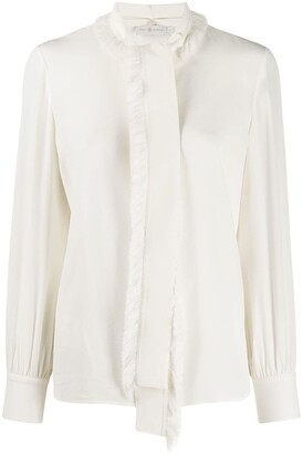 Tory Burch Fringe Bow Blouse