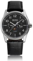 Hugo Boss 1513467 Chronograph Heritage Leather Strap Watch One Size Assorted-Pre-Pack
