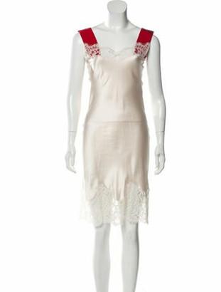 Givenchy Sleeveless Slip Dress Champagne