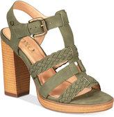 XOXO Kurt Strappy Block-Heel Sandals