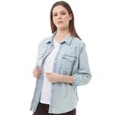 Levi's Womens Plus Size Western Denim Shirt Radio Starr