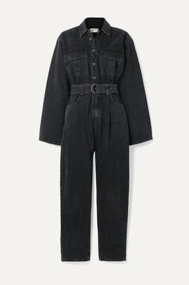 AGOLDE Tatum Belted Denim Jumpsuit - Black