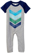 Tea Collection Chevron Graphic Romper (Baby Boys)