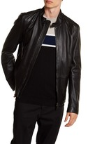 HUGO BOSS Nevilo Slim Fit Genuine Leather Jacket