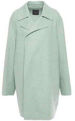 Theory Brushed Melange Wool And Cashmere-blend Felt Coat