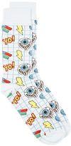 Topman Light Blue Grid Eyeball Socks