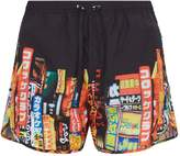 Neil Barrett City Print Swim Shorts