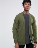 Asos Longline Cardigan In Brushed Yarn