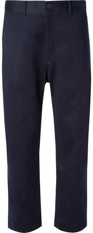 Studio Nicholson Bill Tapered Peached-Cotton Twill Trousers