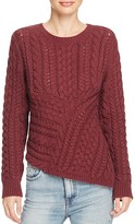 360 Sweater Asymmetric Chunky Cable Sweater
