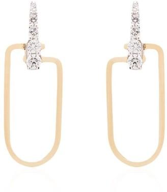 EÉRA 18kt gold Reine diamond drop earrings