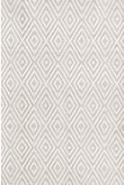 Dash and Albert Rugs Diamond Hand-Woven Platinum/White Indoor/Outdoor Area Rug Rug