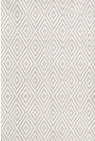 Dash and Albert Rugs Diamond Platinum White Indoor/Outdoor Rug Rug