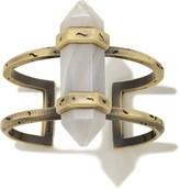 Kendra Scott Shelli Cuff Bracelet in White Banded Agate