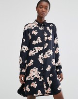 B.young Floral Print Shirt Dress