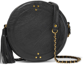 Jerome Dreyfuss Remi Tasseled Textured-leather Shoulder Bag