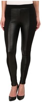 Hue Textured Leatherette Ponte Leggings Women's Casual Pants