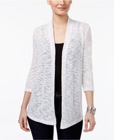 JM Collection Petite Lace-Back Open-Front Cardigan, Only at Macy's