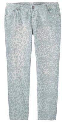 Mossimo Women's Plus-Size Printed Skinny Denim Jeans - Blue Animal Print