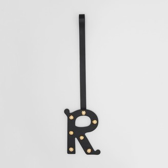 Burberry 'R' Studded Leather Alphabet Charm