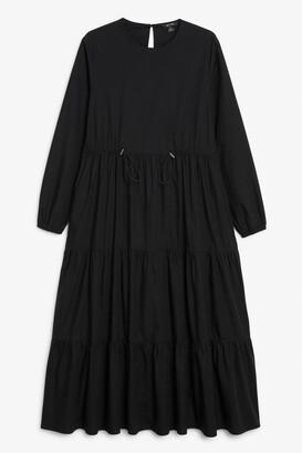 Monki Drawstring waist maxi dress