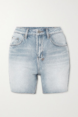 Ksubi Racer Frayed Denim Shorts
