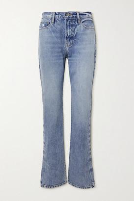 Frame Le Drew High-rise Straight-leg Jeans - Mid denim