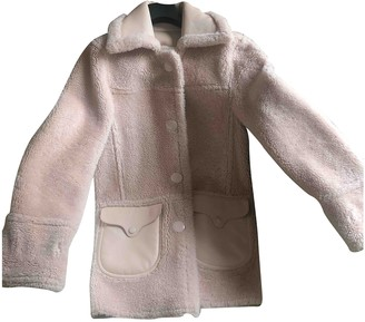 Coach Pink Leather Coat for Women