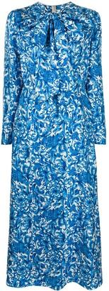Valentino Printed Twill Dress