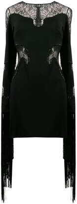 Philipp Plein Lace-Detail Mini Dress