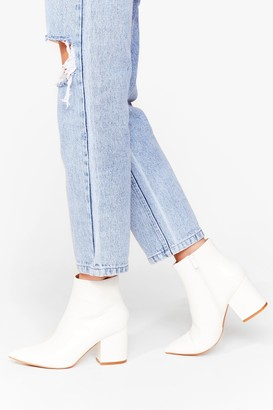 Nasty Gal Womens White Here Ankle Boots - 5, White