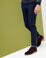 Ted Baker Slim Fit Speckled Trousers Navy
